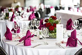 Dekoration für Hochzeitsfeier