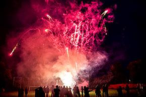 privates Feuerwerk für die Hochzeit